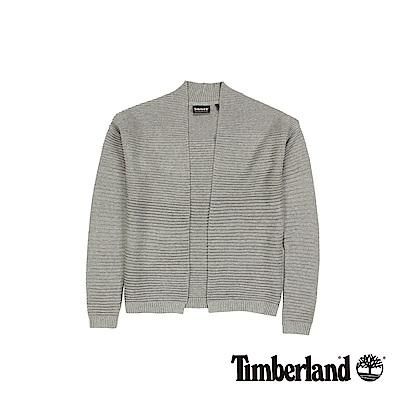 Timberland  女款中灰色麻灰Pine Point 棉質開襟衫
