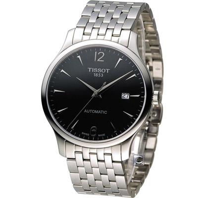 TTISSOT T-TRADITION 極簡雅士 機械腕錶-黑/40mm
