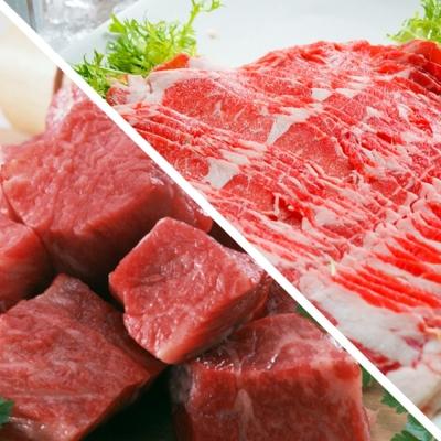 好神 美國鮮切嫩肩一口骰牛排+霜降牛肉片20件組(骰牛10包+肉片10包)