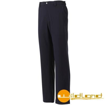 【Wildland 荒野】W1316 男 彈性抗UV休閒長褲 (72深藍色)