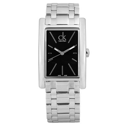 CK 中性經典不敗款不鏽鋼腕錶-黑色/30mm