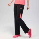 FIVE UP(女)- 色塊拼接吸排針織長褲-淺紅