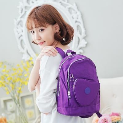 COUNT DUCK 美系悠活輕量愛心輕旅後背包-019-紫色