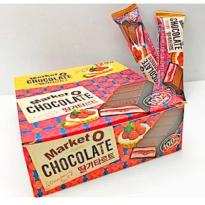 Market O 醬心巧克力-草莓塔(28gx12入)
