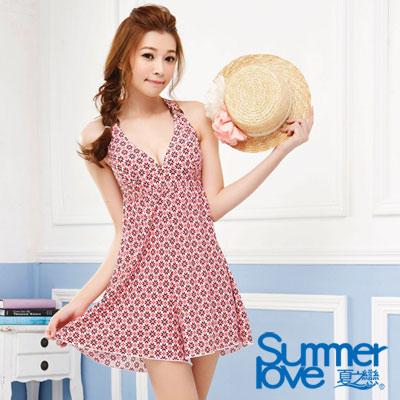 夏之戀SUMMERLOVE 時尚身褲裙兩件式泳衣