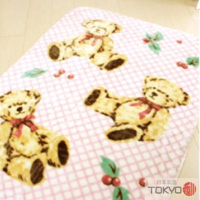 TOKYO東京西川 三隻小熊中童發熱毯(100X140)粉紅