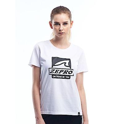 【ZEPRO】女子做自己休閒棉T-簡約白