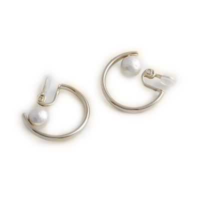 JewCas Air Earring系列經典圓圈棉珍珠耳環_JC2646
