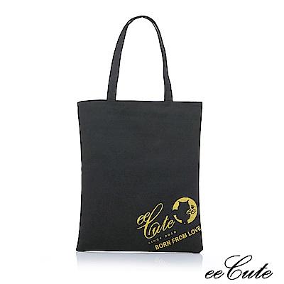 eeCute因愛而生經典提袋(可手提.肩背)復古黑EEEP005-BK