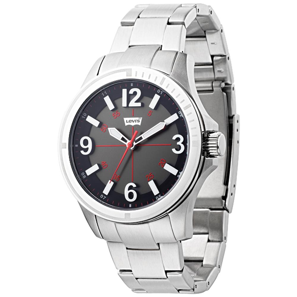 Levi s 時光冒險手錶-銀鋼帶/43mm