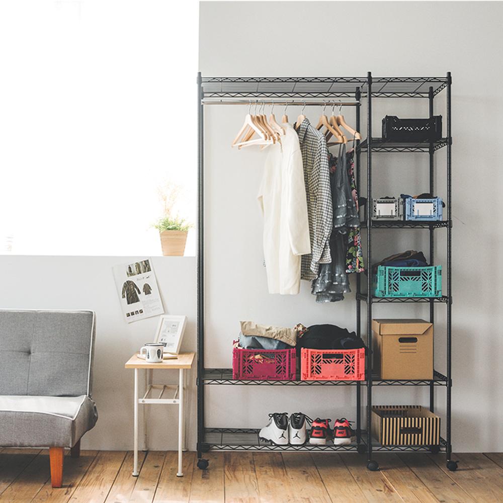 完美主義 六層衣櫥/附輪/鐵力士-120x45x180cm