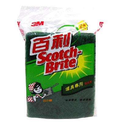 3M 百利抗菌升級爐具專用菜瓜布(5入裝)