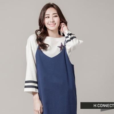 H-CONNECT-韓國品牌-女裝-細肩帶純色側開