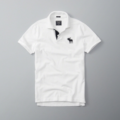 AF a&f Abercrombie & Fitch 短袖 POLO 白色 183