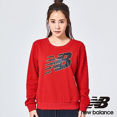 New Balance 圓領長袖T恤 AWT81550REP 女性 紅色