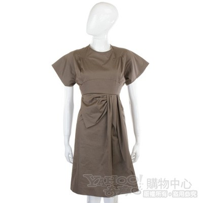 KENZO 茶綠色短袖洋裝