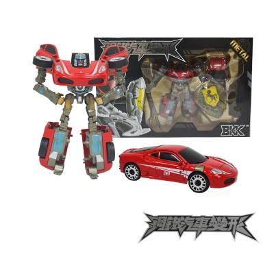 合金鋼鐵汽車變形機器人(大)-25紅跑車-快速到貨