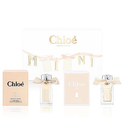 Chloe LesMini Chloe小小雙氛緞帶限量禮盒-同名 20 ml+玫瑰之心 20 ml國際航空版