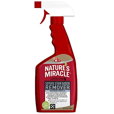 8in1自然奇蹟 貓用活氧酵素去漬除臭噴劑 (清新香味) 24oz