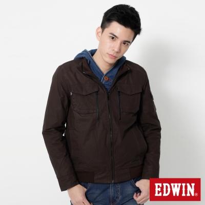EDWIN-簡約立領防寒外套-男-深咖啡