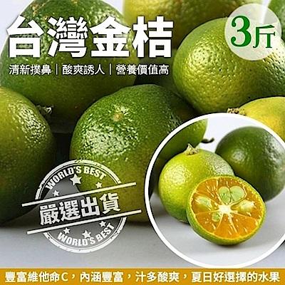 【天天果園】台灣香甜黃澄金桔(3斤/箱)