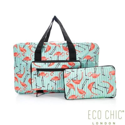 英國ECO CHIC時尚旅行袋-紅鶴