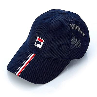 FILA 時尚LOGO帽-丈青 HTS-1003-NV