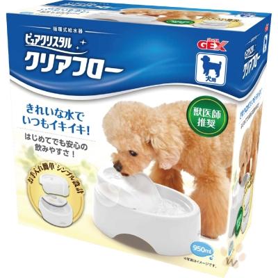 GEX 愛犬圓滿平安濾淨飲水皿-潔白色 1入