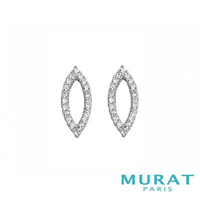 MURAT Paris米哈巴黎 優雅鏤空滿鑽耳環