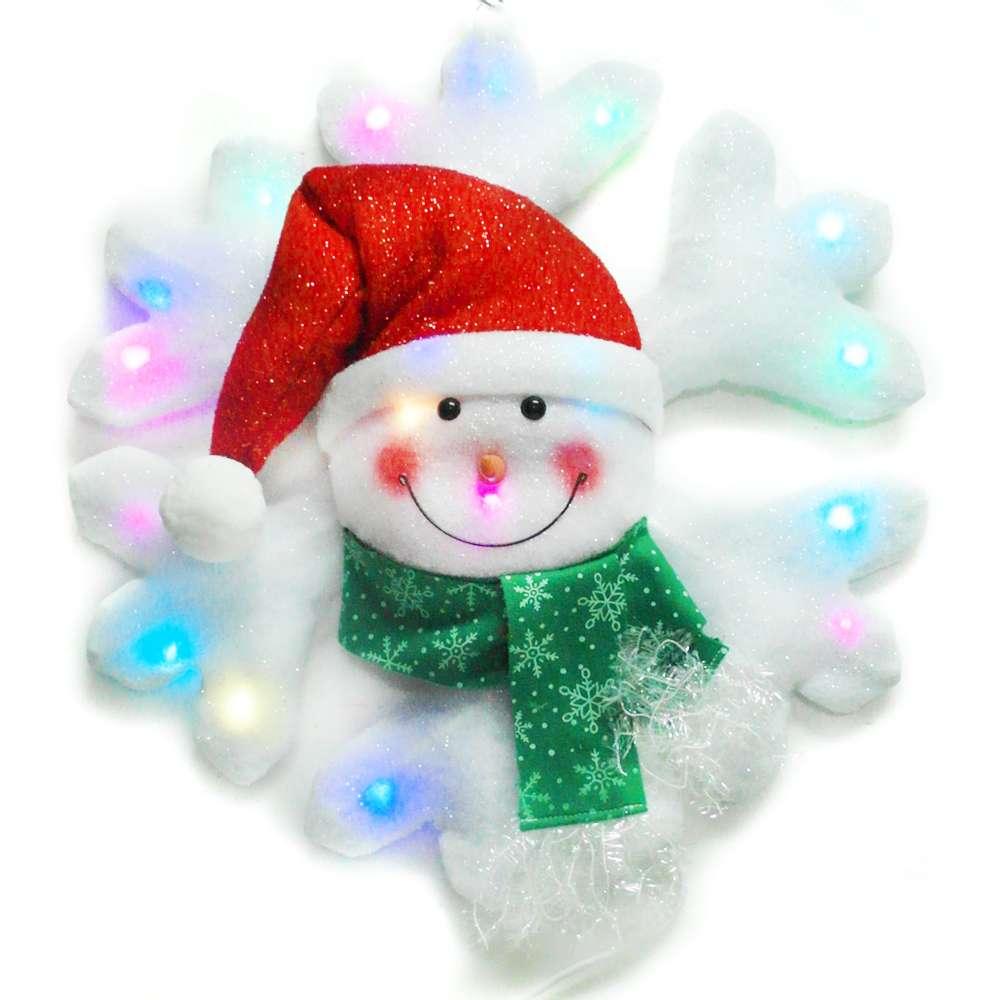 聖誕LED燈25燈雪人雪花造型燈吊飾