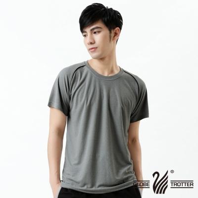 【遊遍天下】台灣製中性款輕量吸濕排汗機能圓領衫S0707中灰
