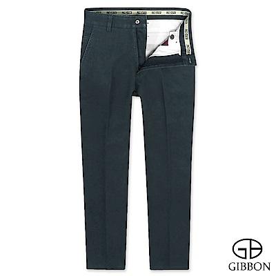 GIBBON 彈性厚質平口休閒長褲‧深藍30-42