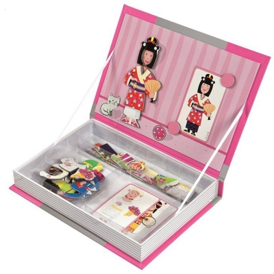 法國Janod 磁鐵遊戲書-女孩變裝秀