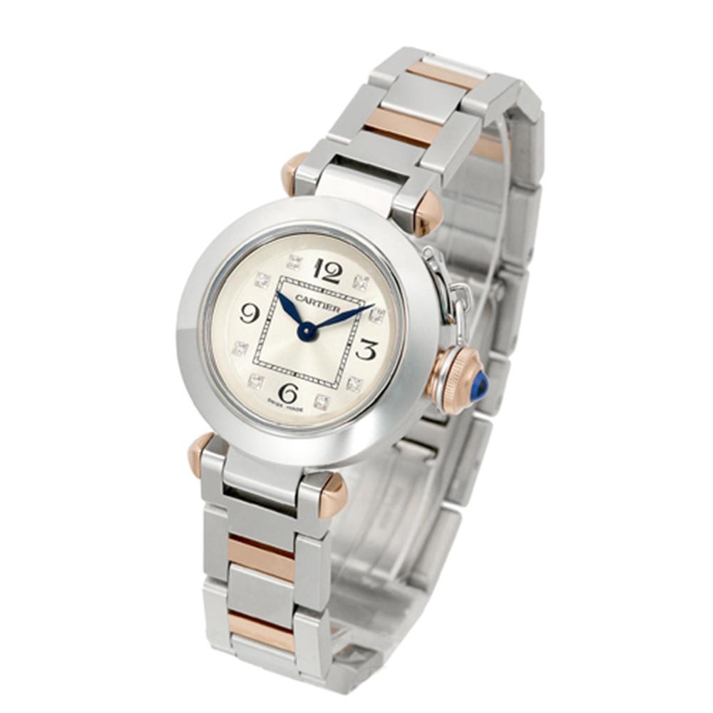 Cartier MISS PASHA 時尚經典8顆鑽腕錶-雙色版/27mm