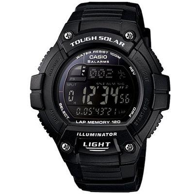 CASIO 陽光遊俠全方位電子運動錶(W-S220-1B)-黑面/49mm