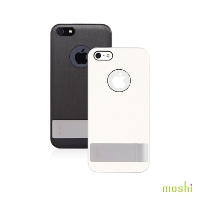 Moshi iGlaze Kameleon iPhone 5SE 可立式雅緻手機殼(黑)