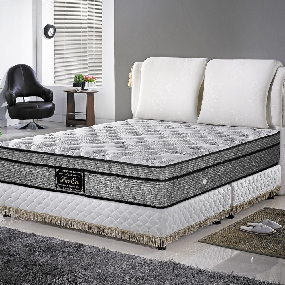 LooCa頂級護框+天絲+乳膠+記憶獨立筒床墊-雙人