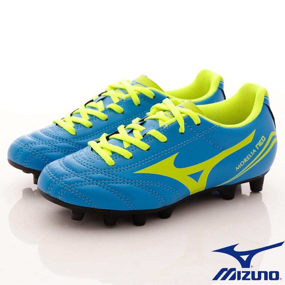 MIZUNO童鞋 MORELIA NEO足球鞋165644天空藍(中大童段)