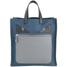 FENDI BAG BUGS 魔魔系列尼龍直立式手提包(藍色)