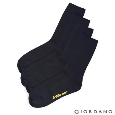 GIORDANO G-Warmer極暖系列長襪(兩雙入) - 02 標誌黑