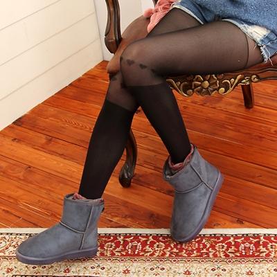 I-shi 心機女孩膝上愛心中厚褲襪