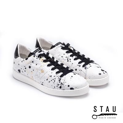 STAU|叛逆世道 真皮休閒鞋-白色