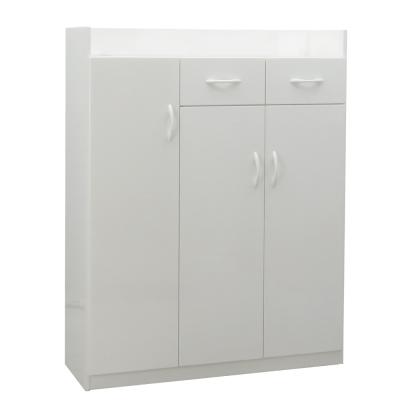 品家居 卡格3.1尺環保塑鋼三門鞋櫃(五色可選)-95x32.5x127cm-免組