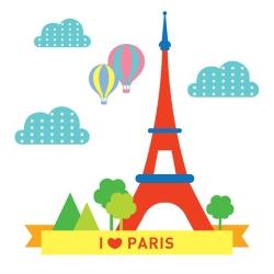 LOVIN 超萌韓版數字油畫 城市系列巴黎鐵塔(2) 1幅