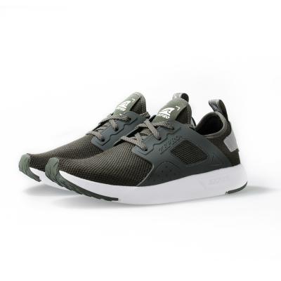 【ZEPRO】男子X3次方系列飛織襪套式休閒鞋-深沉綠
