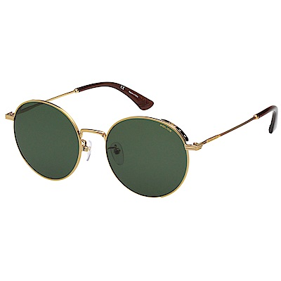 POLICE 復古 太陽眼鏡 (金色) SPL458G