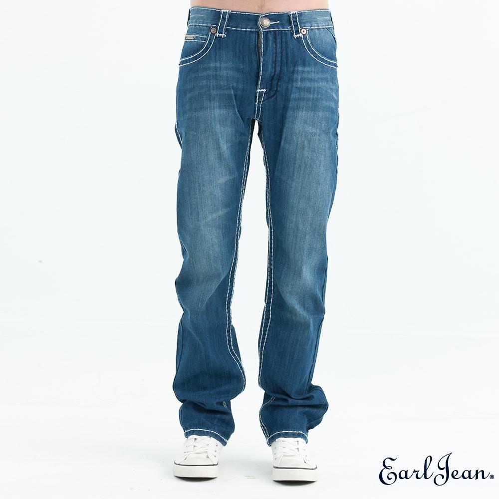 Earl Jean 粗車線低腰舒適窄管褲