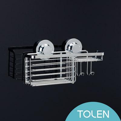 Tolen陶然居-強力無痕吸盤-Hily好吸利-不鏽鋼組合架