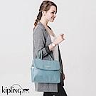 Kipling 手提包  雲彩淺藍素面-中