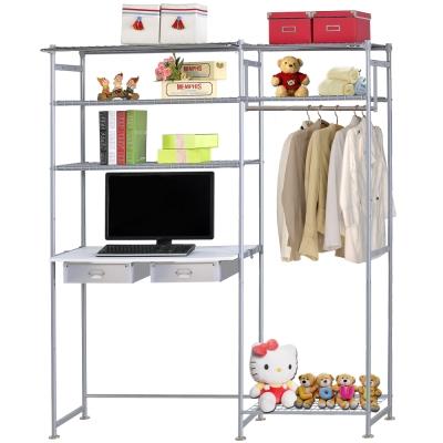 巴塞隆納-WP 3 型 60 公分+E 90 公分電腦桌衣櫥架(無防塵)
